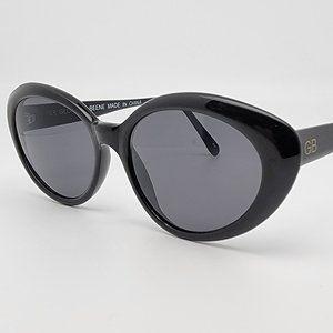 Geoffrey Beene GB 2026 103-3 Black Frame Grey Lens Cat Eye Sunglasses 53-18-140